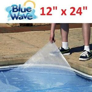 "NEW BLUE WAVE SOLAR BLANKET NS510 186725565 FOR IN GROUND POOLS CLEAR 12""x24"" 14mm"