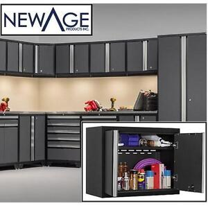 NEW NEWAGE PRO STEEL WALL CABINET GRAY GREY 18 GAUGE METAL WALL CABINET 109289631