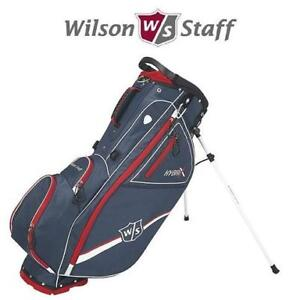 NEW WILSON STAFF GOLF CARRY BAG WGB5800RD 187040480 HYBRIX RED