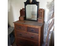 old large dresser or chest of drawers for a small project can deliver