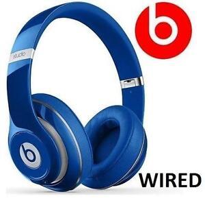 NEW BEATS STUDIO 2.0 HEADPHONES BLUE WIRED OVER EAR HEADPHONES DR DRE   90385018