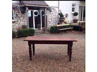Antique farmhouse pine kitchen table
