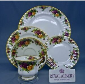 Royal Albert Country Roses - 4 x 5pc place settings