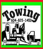 TOWING*FLAT RATES 604*825+I453*Longer Tows AGASSIZ to VANCOUVER