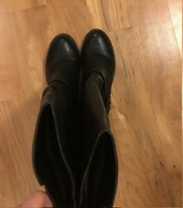 women long leather boots