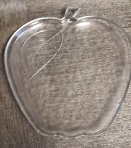 large glass serving tray -  Apple Shape