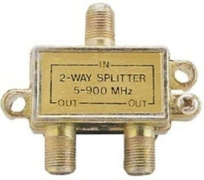 2 Pack 2-Way Signal Splitter Adapter 5-900 MHz Cable TV Ante