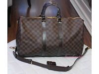 **LOUIS VUITTON Damier Lv Check Bag Gym Duffle Mens Keepall Holdall**x