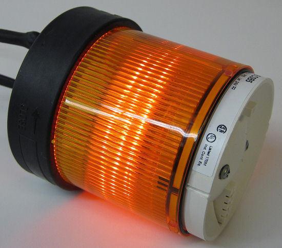 Telemecanique XVB C0B5 Orange Stack Light Lens, 24V AC/DC w/ Orange LED Lamp