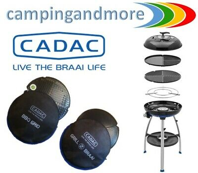 CADAC Carri Chef-2 Grill2 mit Taschen BBQ Combo Camping Kugel Grill Gas 50 mbar