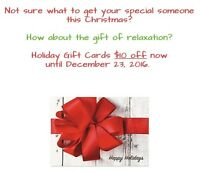 $10 off Christmas Gift Cards Jess's Mobile Massage