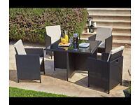 NEW rattan cube set garden furniture