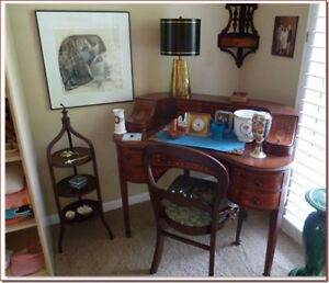 Antique Desk & Chair + Free Delivery