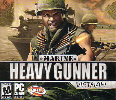 MARINE HEAVY GUNNER VIETNAM Shooter PC Game NEW SEALED