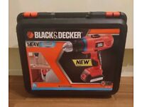 Black and Decker 14.4v Drill with Battery and Charger