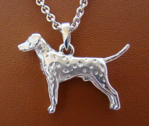 Sterling Silver Dalmatian Standing Study Pendant