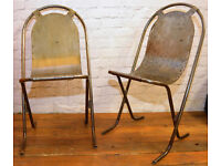 5 available Sebel Stak a Bye industrial metal chairs vintage restaurant cafe stacking kitchen garden