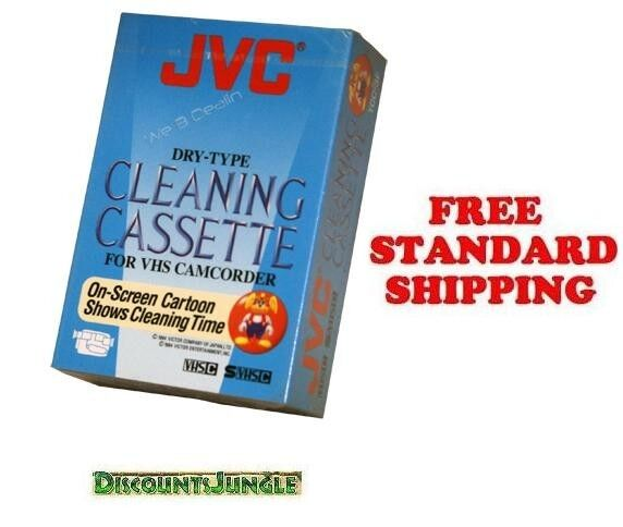 BRAND NEW JVC TCC3FU Cleaning Cassette VHS Camcorder Head Cleaner