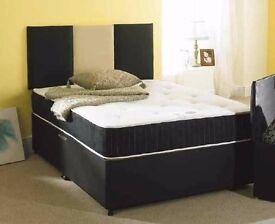 - LIMITED OFFER - SINGLE/DOUBLE DIVAN BED BASE INCLUDING MEMORY FOAM MATTRESS (Headboard Optional)