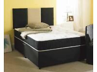 BRAND NEW SINGLE / DOUBLE / KING SIZE DIVAN BED BASE WITH 9'' THICK MEMORY FOAM ORTHOPEDIC MATTRESS
