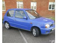 2001 Nissan Micra, 3 doors, 1.0 engine. 92000 miles. Great runner
