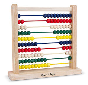 Melissa & Doug Classic Toy Wooden Abacus Counting Fun # 493