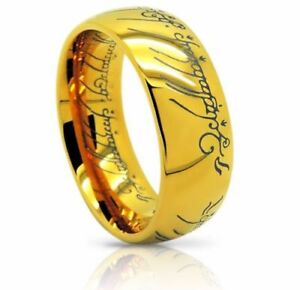 Lord of the Rings *The One (Tungsten) Ring* 18k Gold Plating