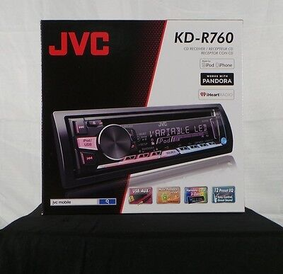 Brand New! JVC KD-R760 1-DIN CD/MP3/WMA/Pandora In-Dash Car Stereo Receiver