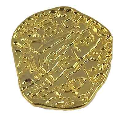 Pirate Treasure Coins - 100 Metal Gold Colored Doubloon Props For Sale - 3