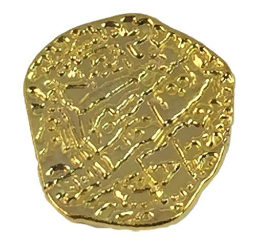 Pirate Treasure Coins - 100 Metal Gold Colored Doubloon Props 2