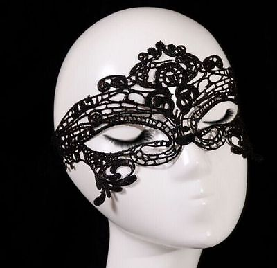 Female Halloween Costume Pics (3 pics Sexy Lace Eye Face Mask Masquerade Prom Halloween Costume Party)