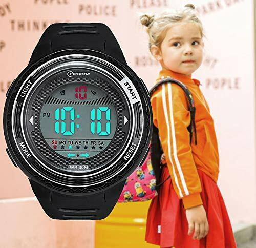 Digital Watch for Kids, DIRAY Sport Wrist Watches with Alarm and LED Back Light Jewelry & Watches