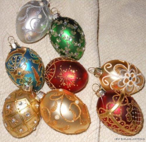 Glass christmas ornament set ebay