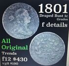 1801 Year Draped Bust Large Cents (1796-1807)