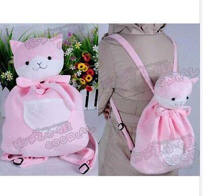 Danganronpa Dangan-Ronpa Nanami Chiaki Cat Bag Cosplay Pink Cute Plush Backpack