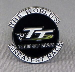 BIKER ISLE OF MAN TT RACES PIN BADGE NEW STYLE JUST IN