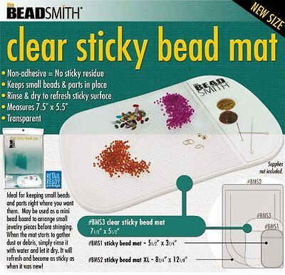 Clear Sticky Bead Mat, 7.5 X 5.5 In - BMS3
