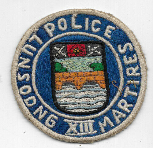 Obsolete Philippine Lunsodng Martires  Police Patch