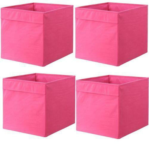 pink plastic storage boxes ebay. Black Bedroom Furniture Sets. Home Design Ideas