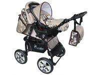 Pushchair Stroller Car Seat Carrycot Travel System 3 in 1