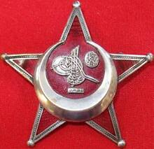 WW1 TURKISH GALLIPOLI STAR MEDAL BADGE IRON CRESCENT MOON GERMAN Morley Bayswater Area Preview