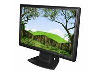 "Black Delium 22"" computer monitor"