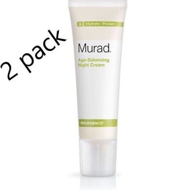 2X Murad Resurgence Age Balancing Night Cream Hydrate Protect  1 7 Fl Oz  50 Ml
