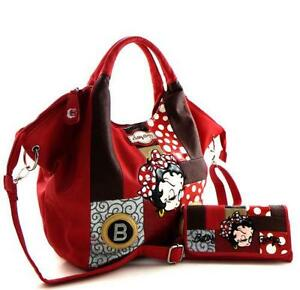 Betty Boop Black Purse