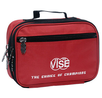 Vise Bowling Large  3 Pocket Red Accessory Bag - New - Free