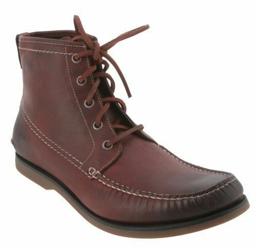 JOHN VARVATOS COLLECTION College Chukka Boots 9 Leather Brown White Wash