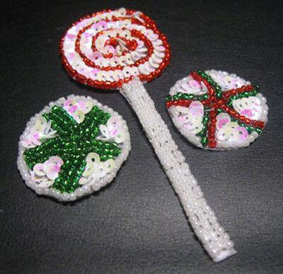 INTS SEQUIN BEADED APPLIQUE 0804-J (Christmas Mints)