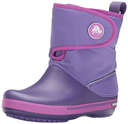 New Kids Girls Crocs Crocband II.5 Gust Boots Winter Shoes S