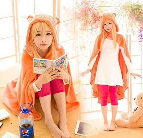 Himouto! Umaru-chan Cosplay Costume Cloak Hoodie Flannel Coat Robe Blanket Quilt
