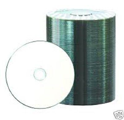 100 Rohlinge Printable Bedruckbar CD-R 700MB/80min Teilmetallisiert